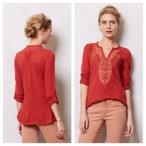 •Anthropologie• Meadow Rue Chenaii Henley